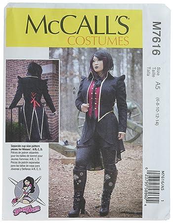 McCall\'s Patterns 7616 A5 Schnittmuster Kostüm, mehrfarbig, Größe 6 ...
