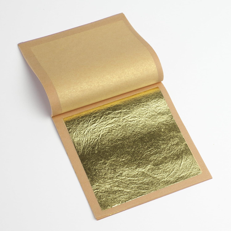 22K Genuine Gold Leaf Loose 1 Booklet (25 sheets)