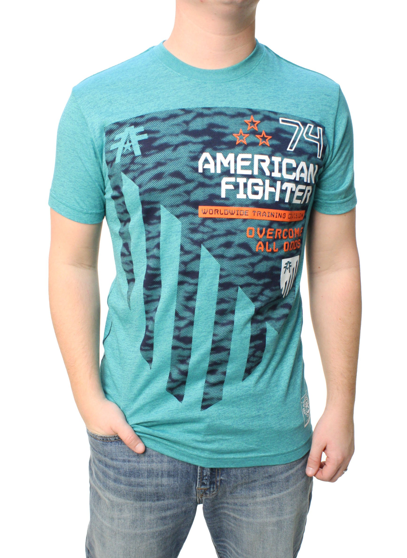 AMERICAN FIGHTER Men's Coat of Arms Tee Shirt Foam/Pewter Medium