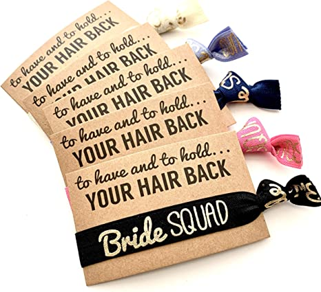To Have and To Hold Your Hair Back Favor Bachelorette Favors Hair Tie Favors