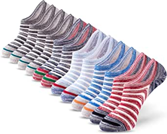 IDEGG Women's and Men's No Show Socks Low Cut Anti-Slid Athletic Casual Cotton Socks