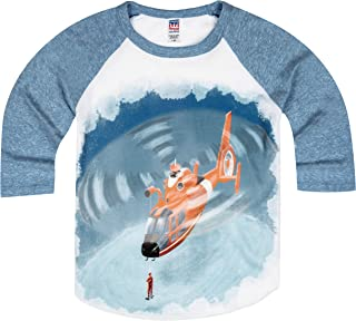 product image for Shirts That Go Little Boys' Helicopter Raglan T-Shirt