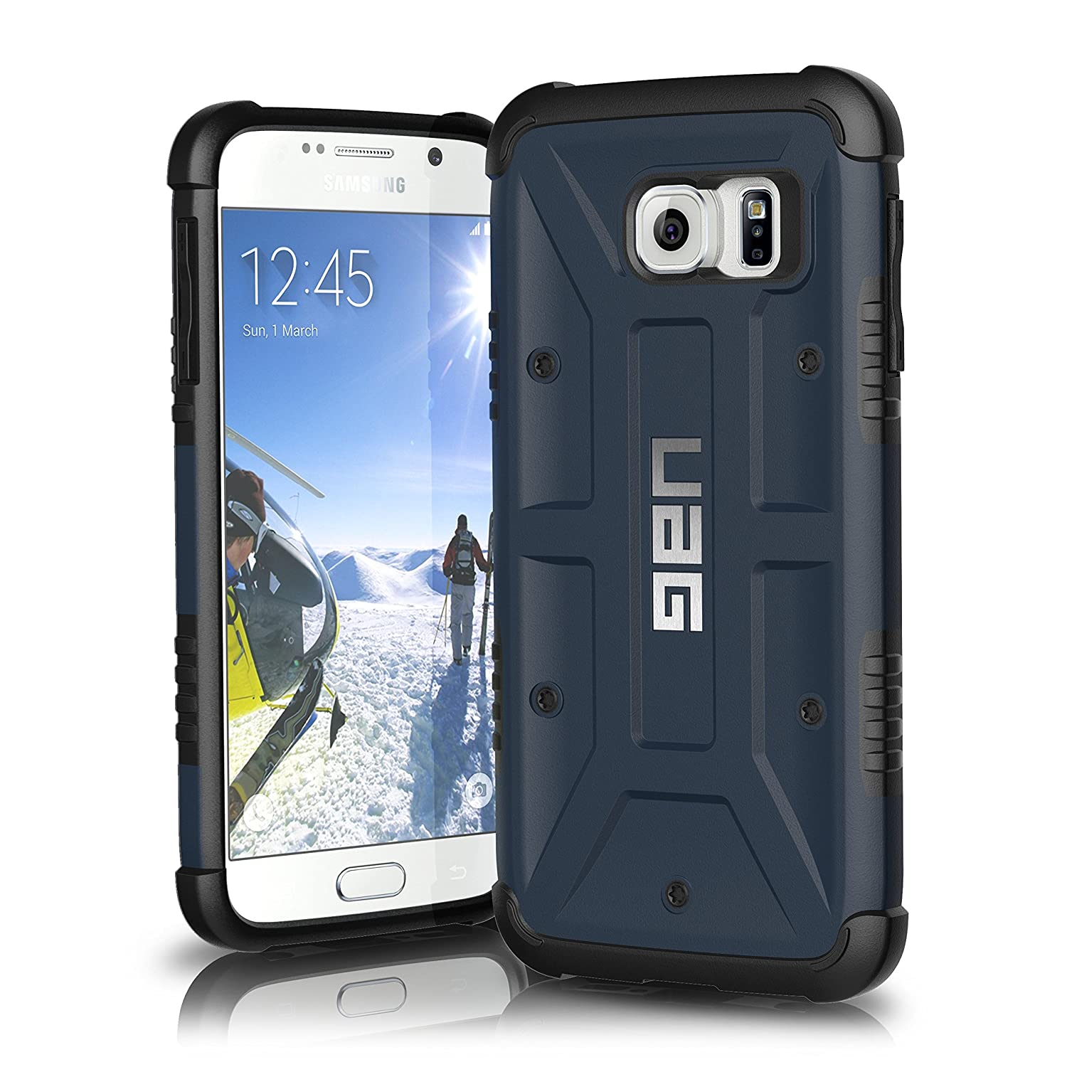 hot sale online 897fe 076f9 UAG Samsung Galaxy S6 [5.1-inch Screen] Feather-Light Composite [Slate]  Military Drop Tested Phone Case