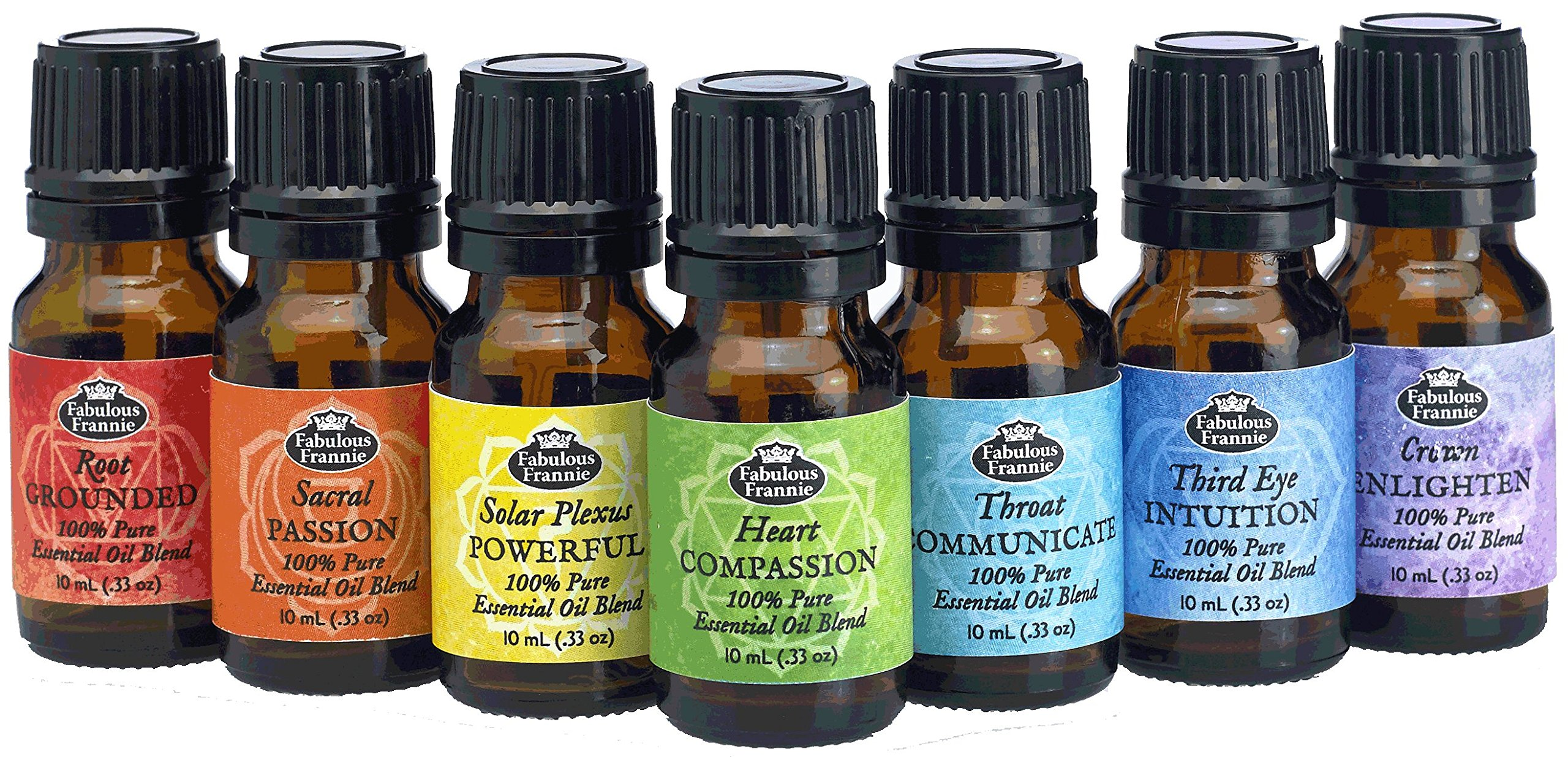 Chakra Complete Set of 7 Pure Essential Oil Blends - .33oz