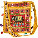 Hobo Crossbody Elephant Messenger Shoulder Bag Sling Roomy Purse Colorful Casual Everyday Hippie Satchel