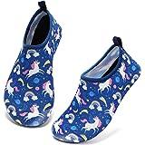 Tomilee Boys Girls Swim Shoes Kids Beach Surf Water Shoes Aqua Sports Shoes Barefoot Quick-Dry Aqua Socks Toddler Pool Shoes