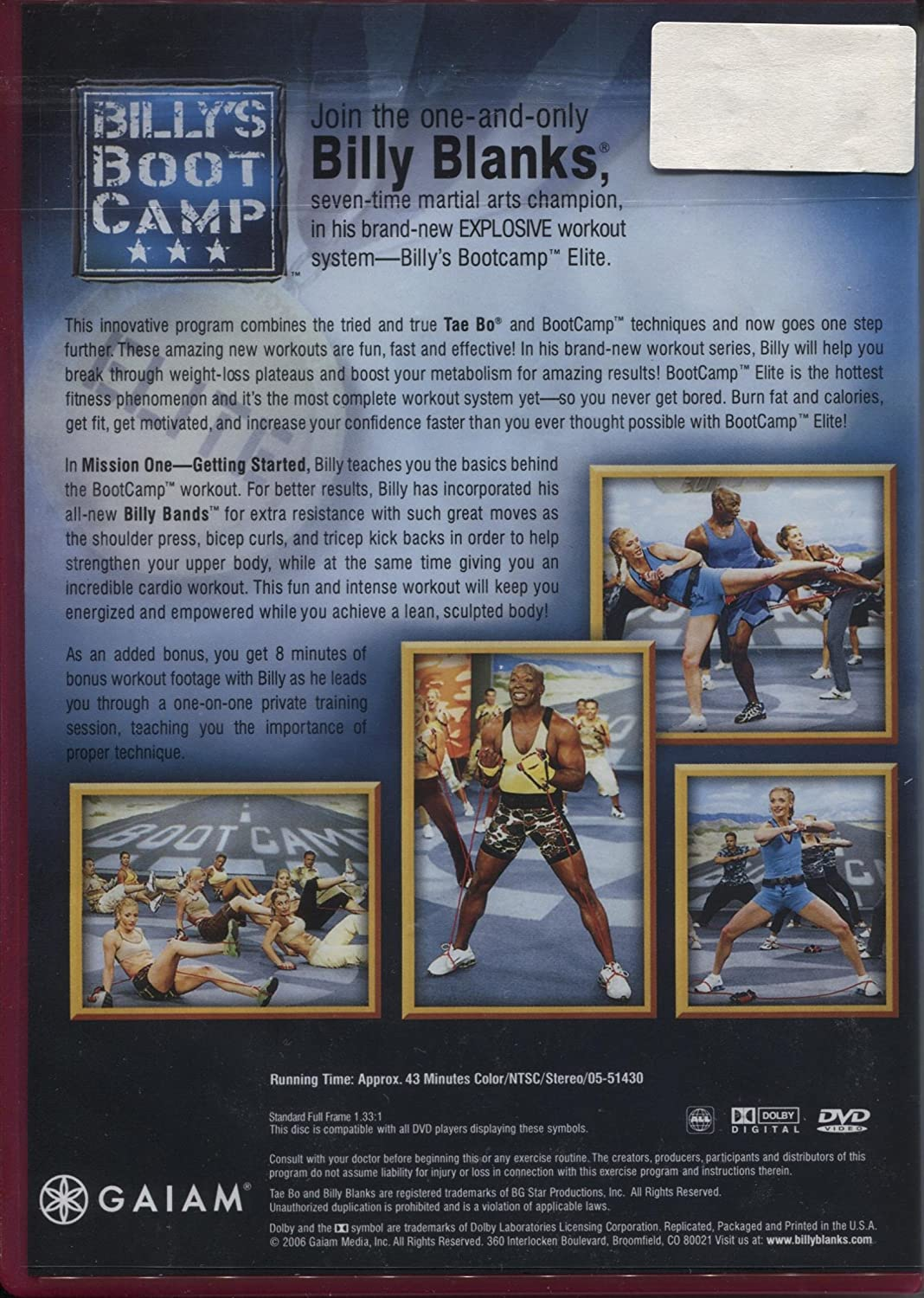 Amazon.com: Billys Bootcamp Elite - Mission One - Get Started: Billy Blanks: Movies & TV