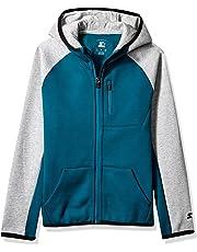 d287921187 Starter Boys' Double Knit Colorblocked Zip-Up Hoodie, Amazon Exclusive
