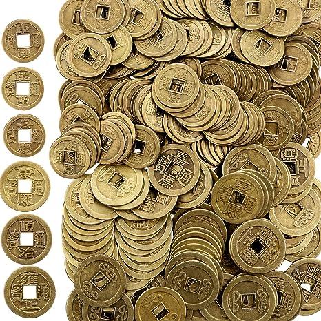 8461eba79e Boao 200 Pezzi Monete Cinesi di Feng Shui I-Ching Moneta Fortuna Moneta per  Porta