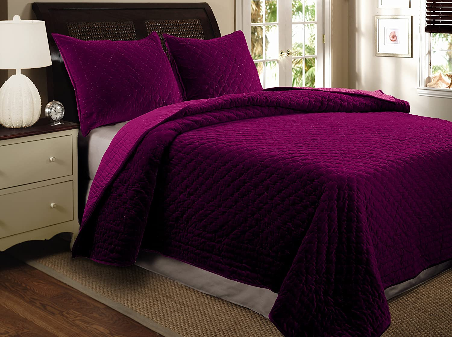 Greenland Home Barefoot Bungalow Palisades Pastel Bedspread Set, 3-Piece, Full (GL-1704LF)