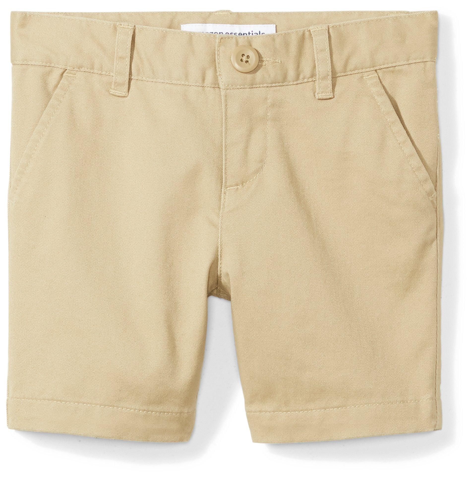 Amazon Essentials Girls' Uniform Short, Khaki,10