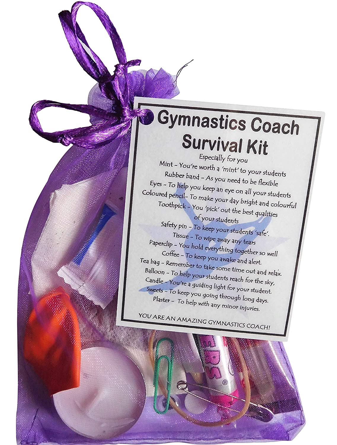 Smile Gifts Uk Gymnastics Coach Survival Kit Gift Great