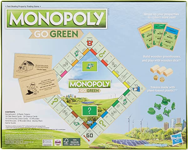 Monopoly: Go Green Edition board game