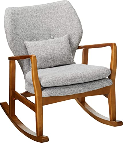 Christopher Knight Home Benny Mid-Century Modern Fabric Rocking Chair