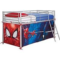 Spiderman Carpa para Cama altillo, Poliéster, Rojo, 80 x 90 x 190 cm