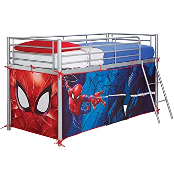 Worlds Apart Spider-Man Midsleeper Bed Tent Fabric Red 86 x 195  sc 1 st  Amazon UK : avengers bed tent - memphite.com