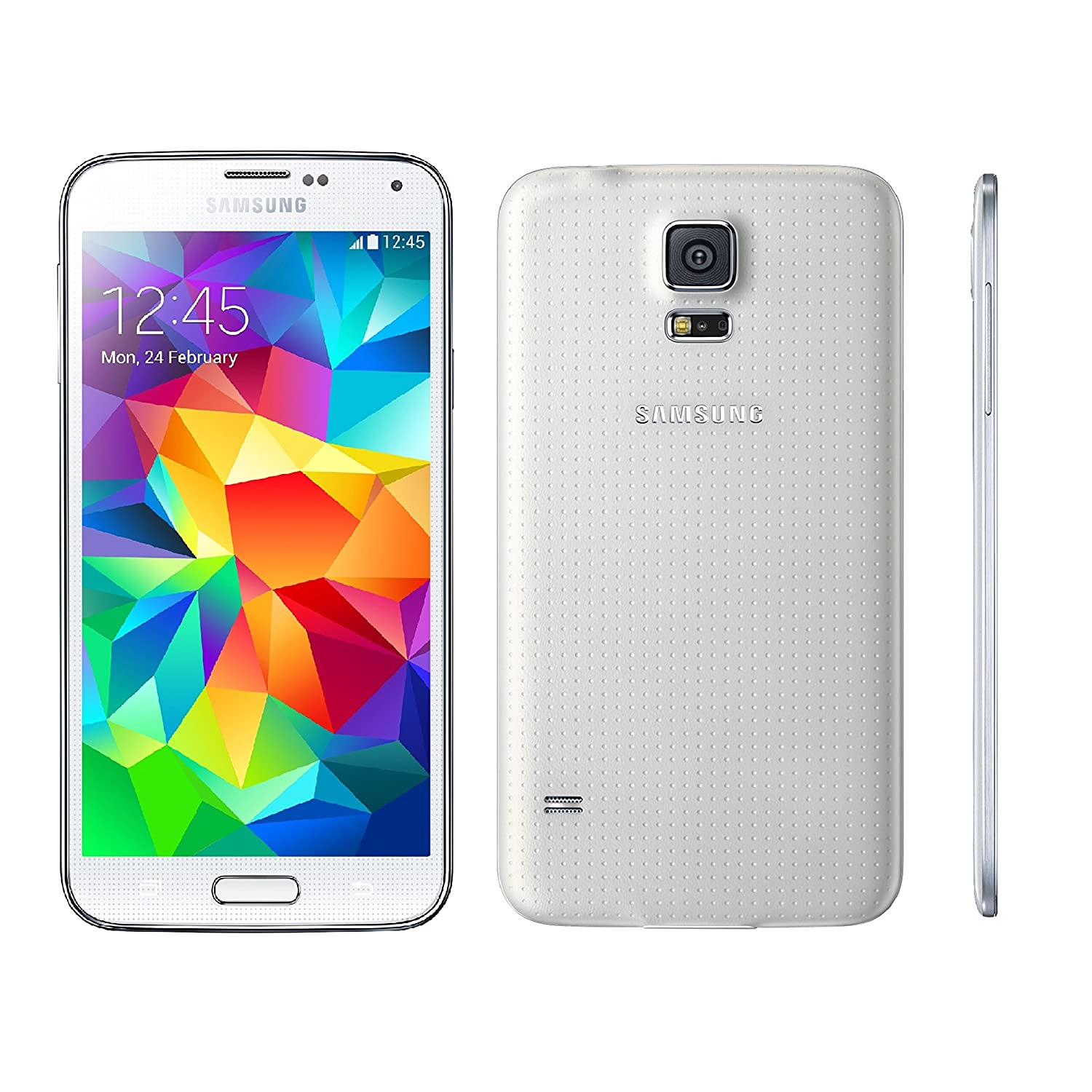Samsung Galaxy S5 G900H Factory Unlocked Cellphone, Android KitKat 4 4 2  International Version (White)