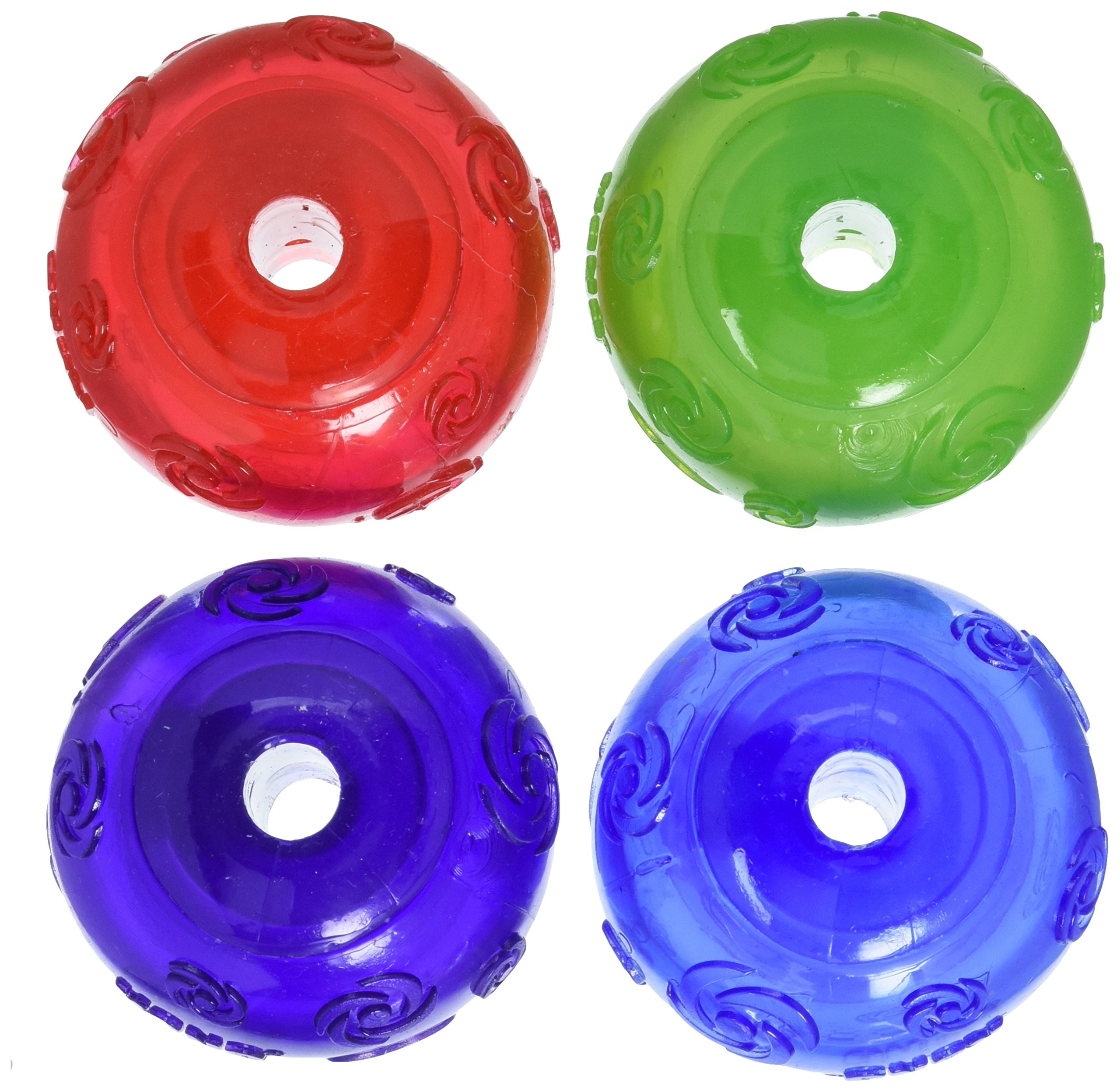 KONG Squeezz Ball Medium Assorted Colors Green, Red, Blue, Purple 4pk