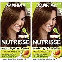 Garnier Nutrisse Nourishing Permanent Hair Color Cream, 50 Medium Natural Brown...