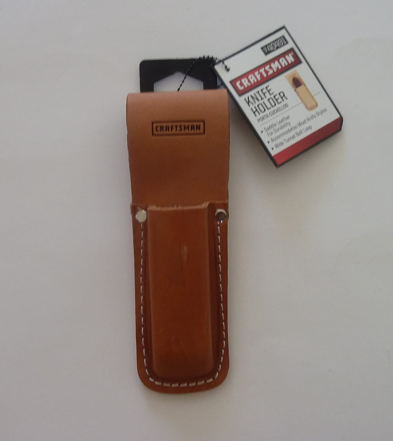 Knife Holder - Closed End - Heavy Duty Saddle Leather Belt Sheath See Dimensions - utility box cutter