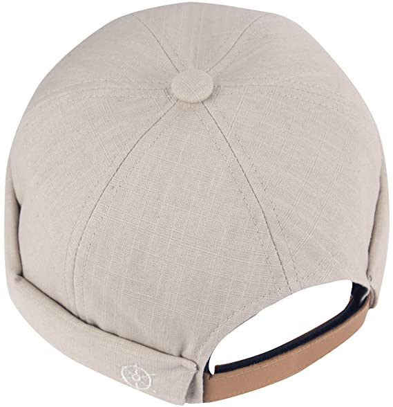 0edd836aced2f8 RaOn B408 Watch Cap Beanie Style Empty Plain No Bill Fashion Baseball Hat  Truckers (Beige) at Amazon Men's Clothing store: