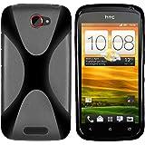 Mumbi X - Carcasa de silicona y TPU para HTC One S, color negro