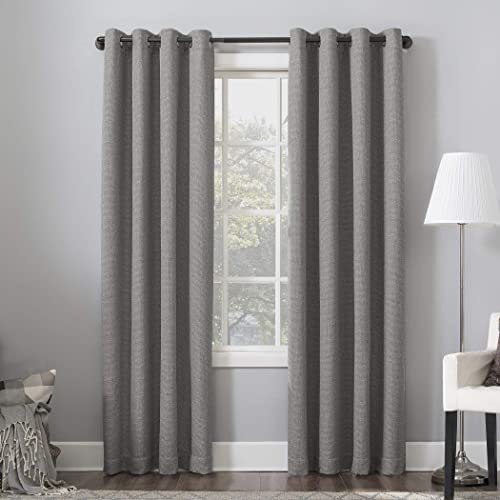 Sun Zero Baxter Theater Grade Extreme 100 Blackout Curtain Panel, 52 x 84 , Gray