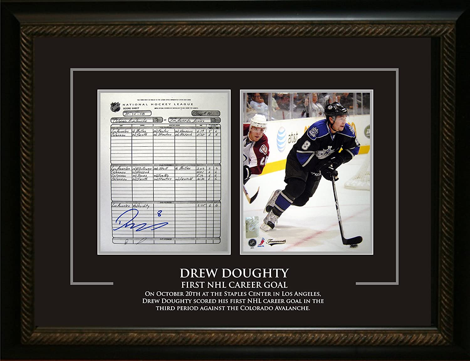 newest collection e1544 aca92 Drew Doughty Signed LA Kings Scoresheet (1st NHL Goal) at ...