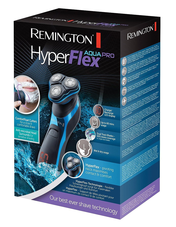 quality design f96b8 d4b63 Remington XR1470 Aqua Pro Hyperflex Rotary Shaver with Turbo Boost Function  Comfort Shaving Heads, Hyperflex Technology - Black Blue  Amazon.co.uk   Health ...