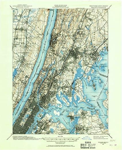 Harlem Nyc Map.Amazon Com New York Maps 1897 Harlem Ny Usgs Historical