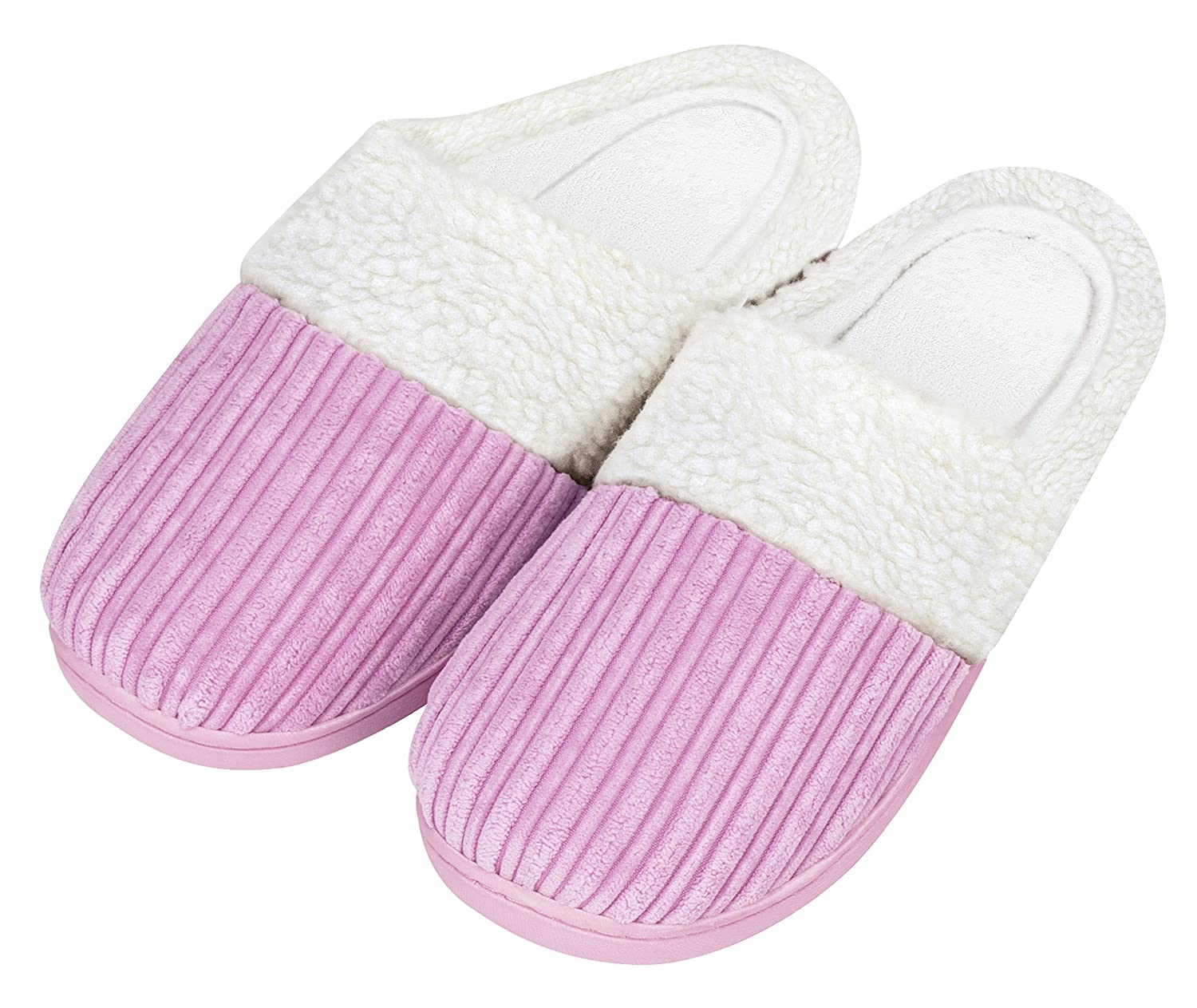 NY Threads Comfy Soft Coral Fleece Memory Foam Slippers for Women