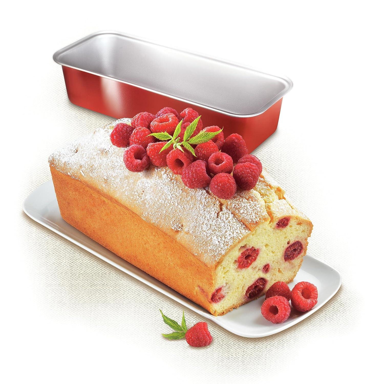 TefalJ 1640114 Delibake Moule A Cake 30 cm Acier Rouge Carbone