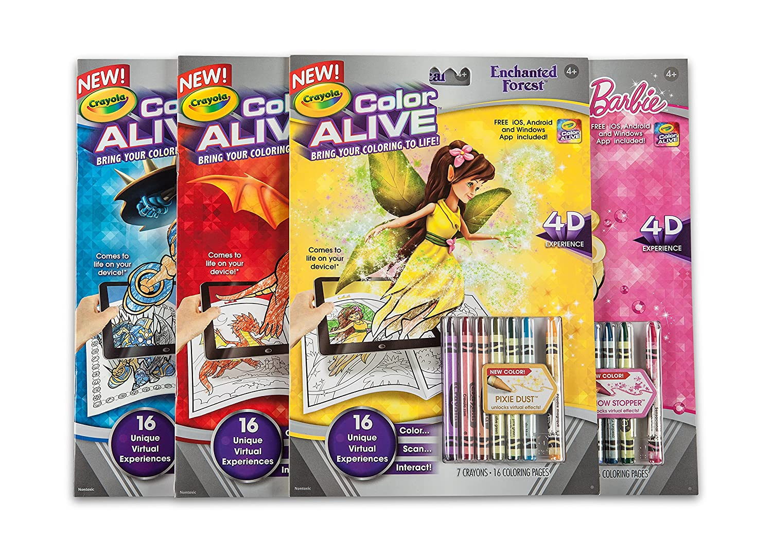amazoncom crayola color alive action coloring pages enchanted forest toys games