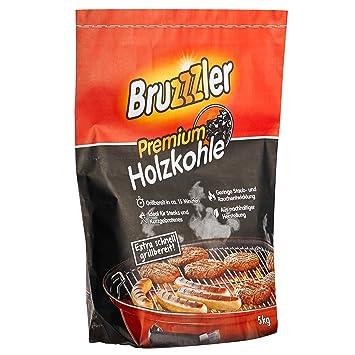 Bruzzzler – Briquetas de Carbón Vegetal para Barbacoa, 5 kg, Calidad Profesional,