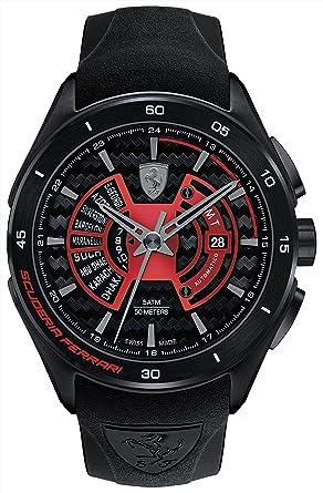 b95149f7155 Buy Scuderia Ferrari Analog Black Dial Men s Watch - 0830276 Online at Low  Prices in India - Amazon.in