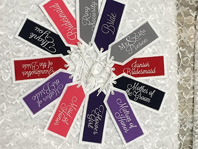 6092e5aa4e Amazon.com  Personalized Embroidered Wedding Gift Tags