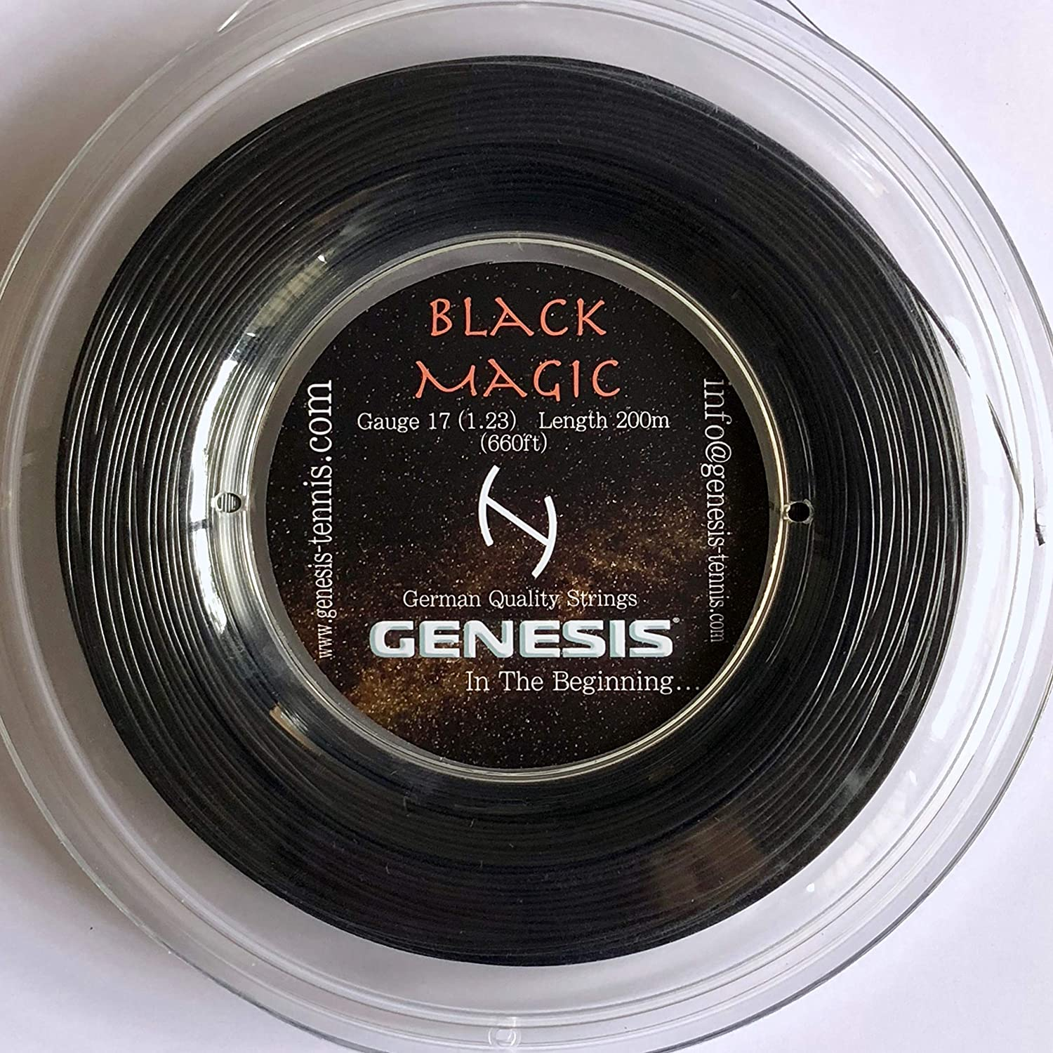 Genesis Black Magic Tennis String Reel Set, Black, 660-Feet