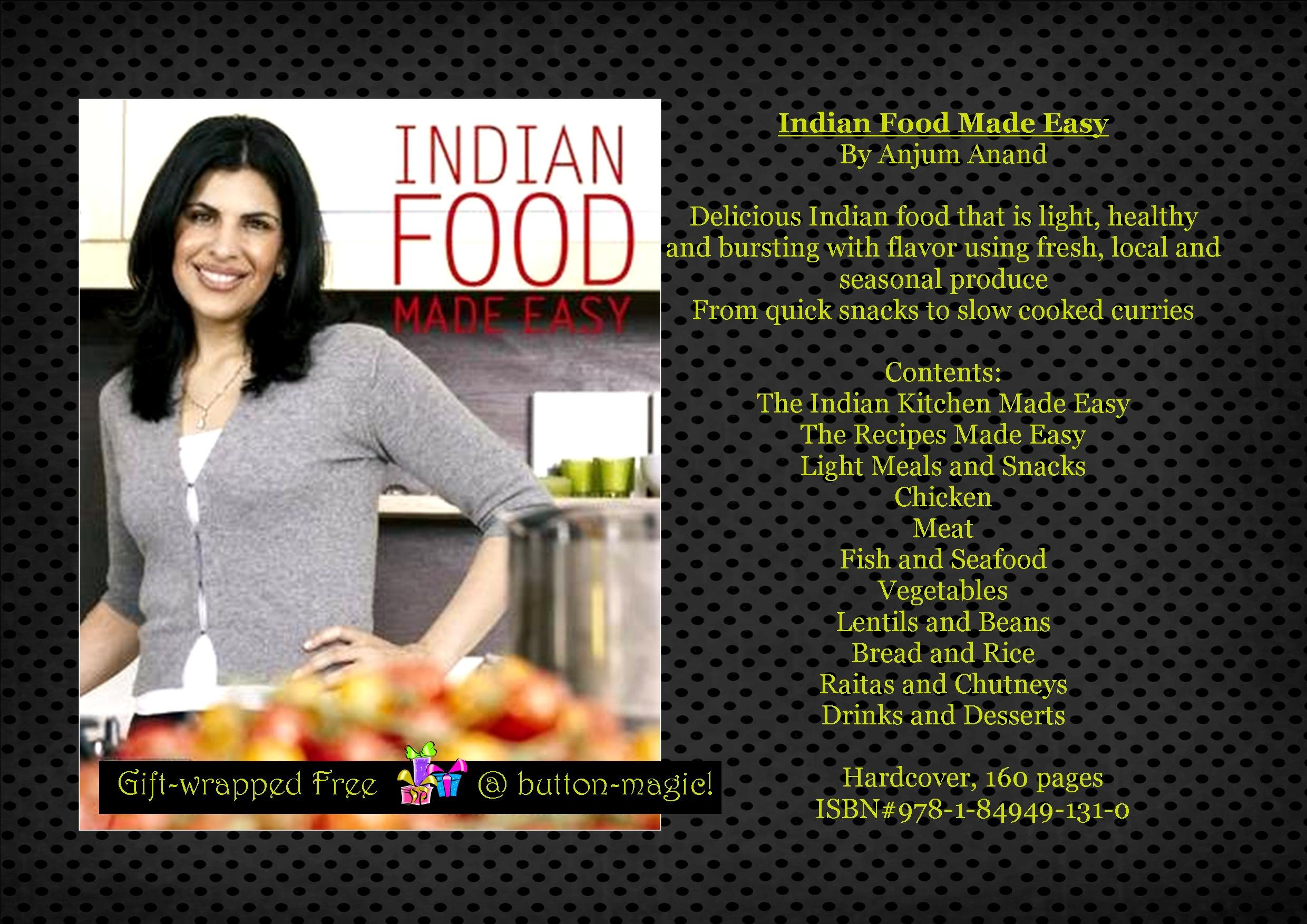 Indian Food Made Easy By Anjum Anand Hardcover Light
