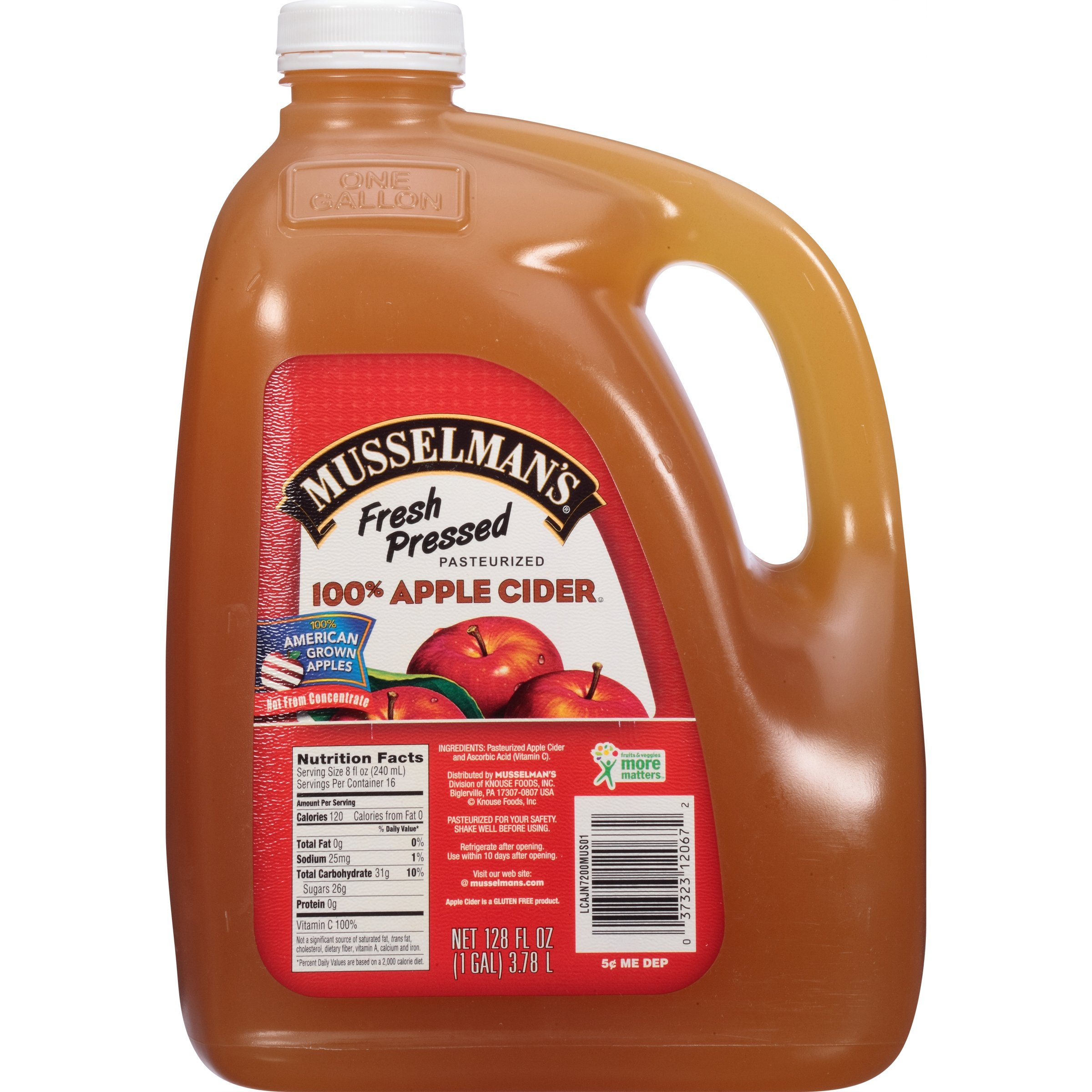 Musselman's 100% Fresh Pressed Apple Cider, 128 Fluid Ounce (Pack of 4) by Musselmans (Image #4)