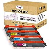 HaloFox 5 Cartuchos de tóner TN241 TN245 para Brother HL-3140CW HL-3142CW HL-3150CDW HL-3152CDW HL-3170CDW HL-3172CDW MFC-9130CW MFC-9140CDN MFC-9340CDW MFC-9330CDW DCP-9015CDW DCP-9020CDW Impresora Negro / Cian / Amarillo / Magenta