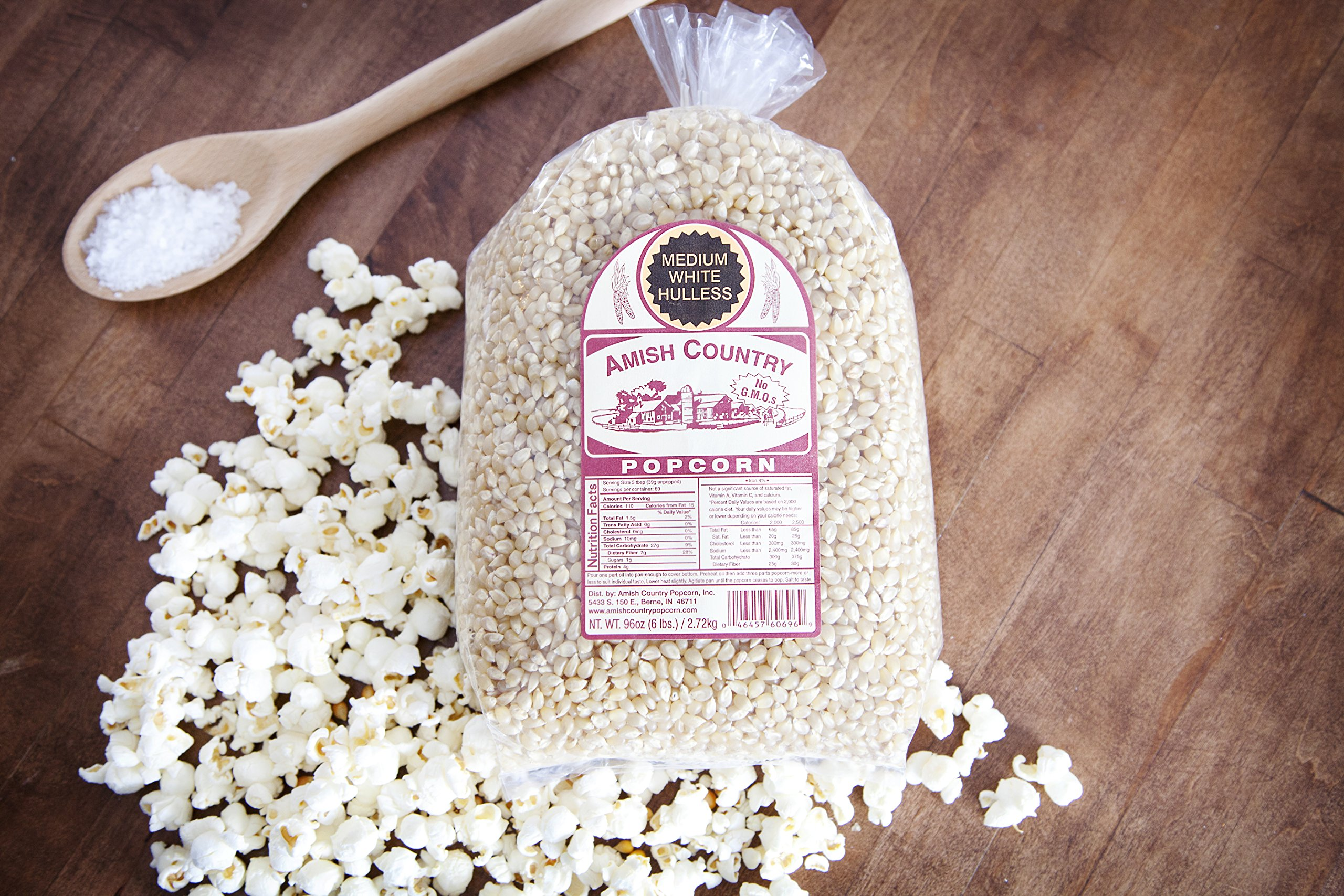 Amish Country Popcorn - Medium White (6 Pound Bag) Popcorn Kernels with Recipe Guide, Old Fashioned, Non GMO, Gluten Free, Microwaveable, Stovetop and Air Popper Friendly by Amish Country Popcorn (Image #4)