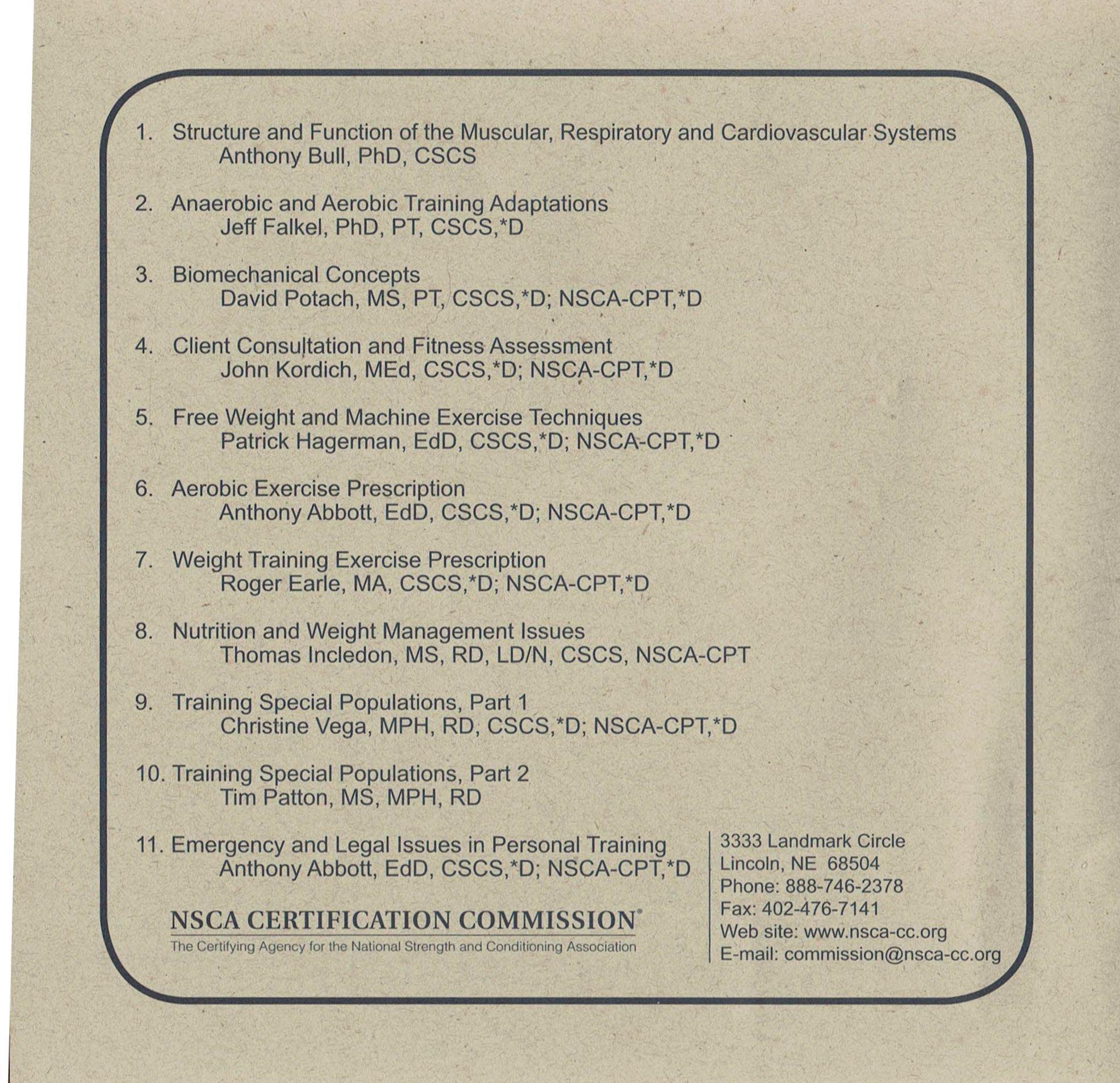 Essentials Of Personal Training Symposium 17 Audio Cds 2005