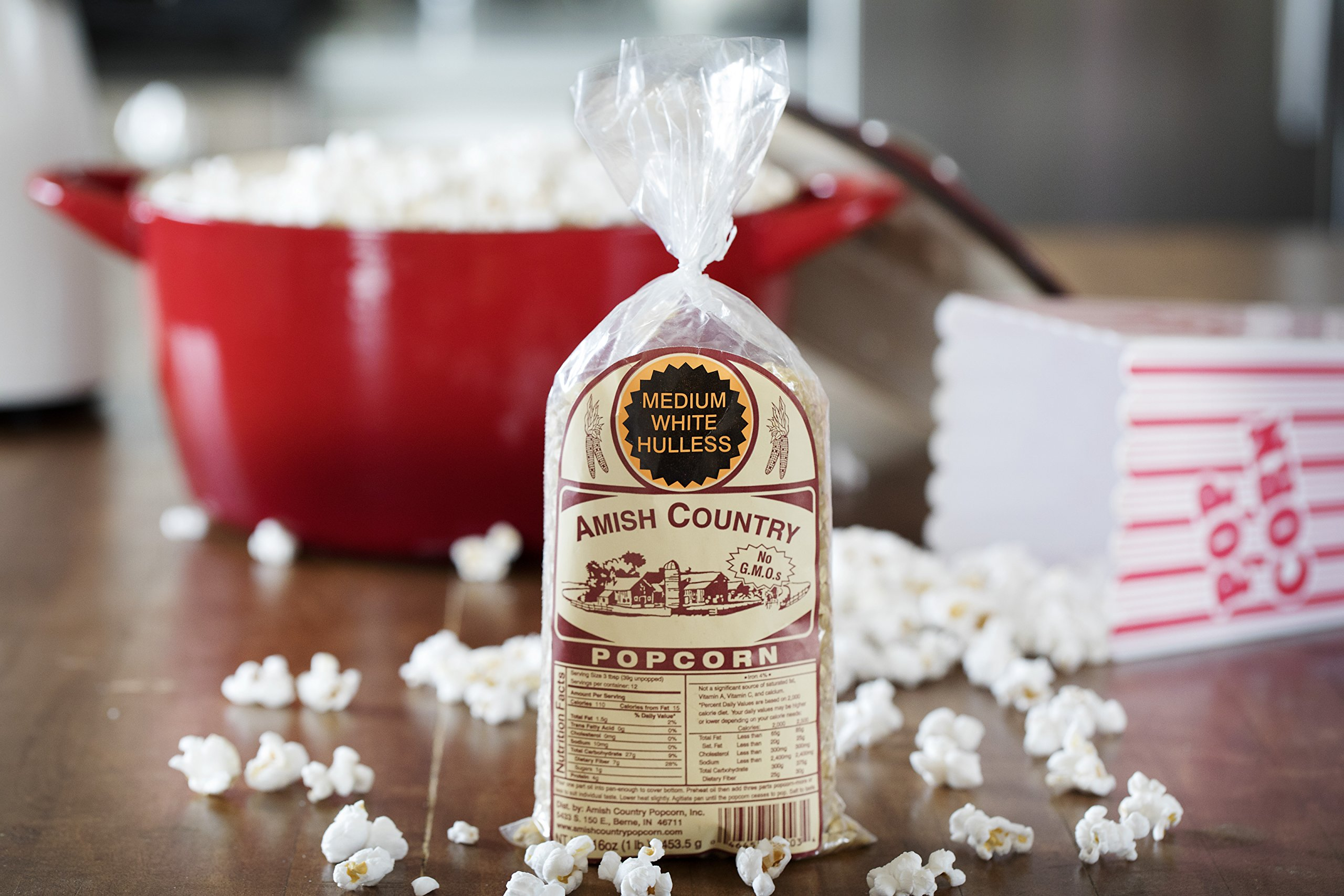 Amish Country Popcorn - Medium White Popcorn (1 Pound Bag) - Old Fashioned, Non GMO, Gluten Free, Microwaveable, Stovetop and Air Popper Friendly - Recipe Guide by Amish Country Popcorn (Image #4)