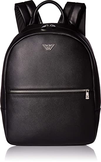 Amazon.com  Emporio Armani Backpack with Zip Pocket, Black  Clothing d756c4dbc14