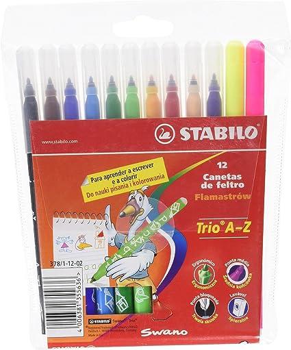Stabilo 378/1-12 - Estuche de 12 rotuladores: Amazon.es: Oficina y papelería