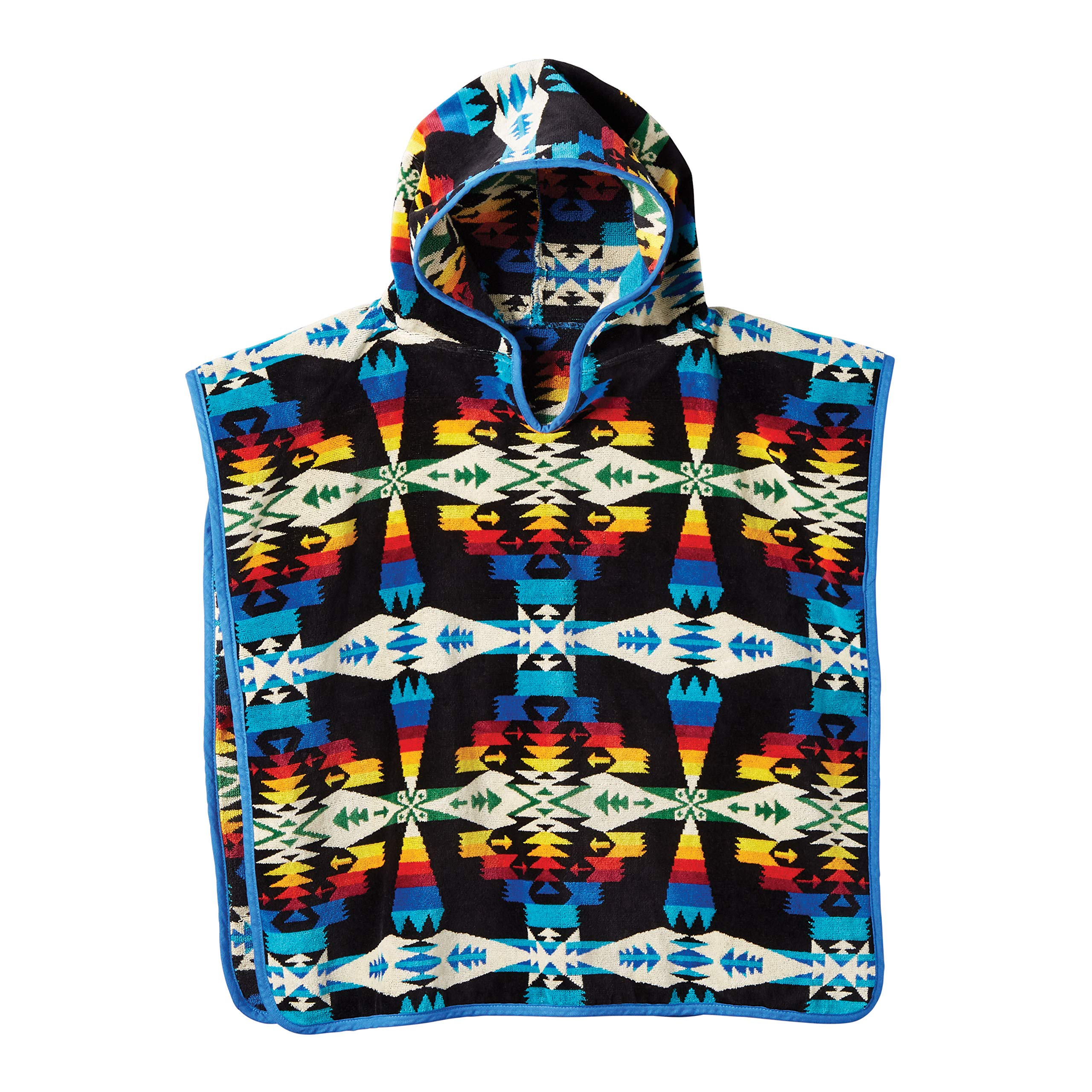 Pendleton Unisex Jacquard Childrens Hooded Towel Tuscon Black One Size by Pendleton