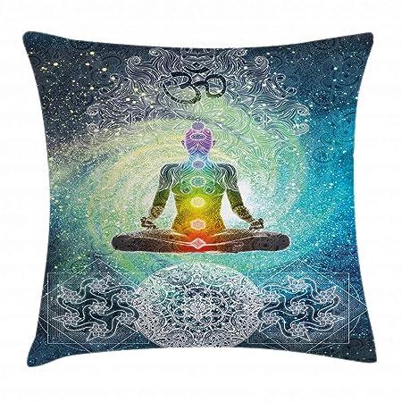 YOGA Almohada Funda de cojín Diseño Mandala ZEN Meditación ...