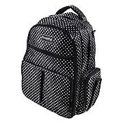 Knuddelstuff 'Buckingham' Baby Diaper Bag Backpack & Organizer System – Insulated Pockets, Black