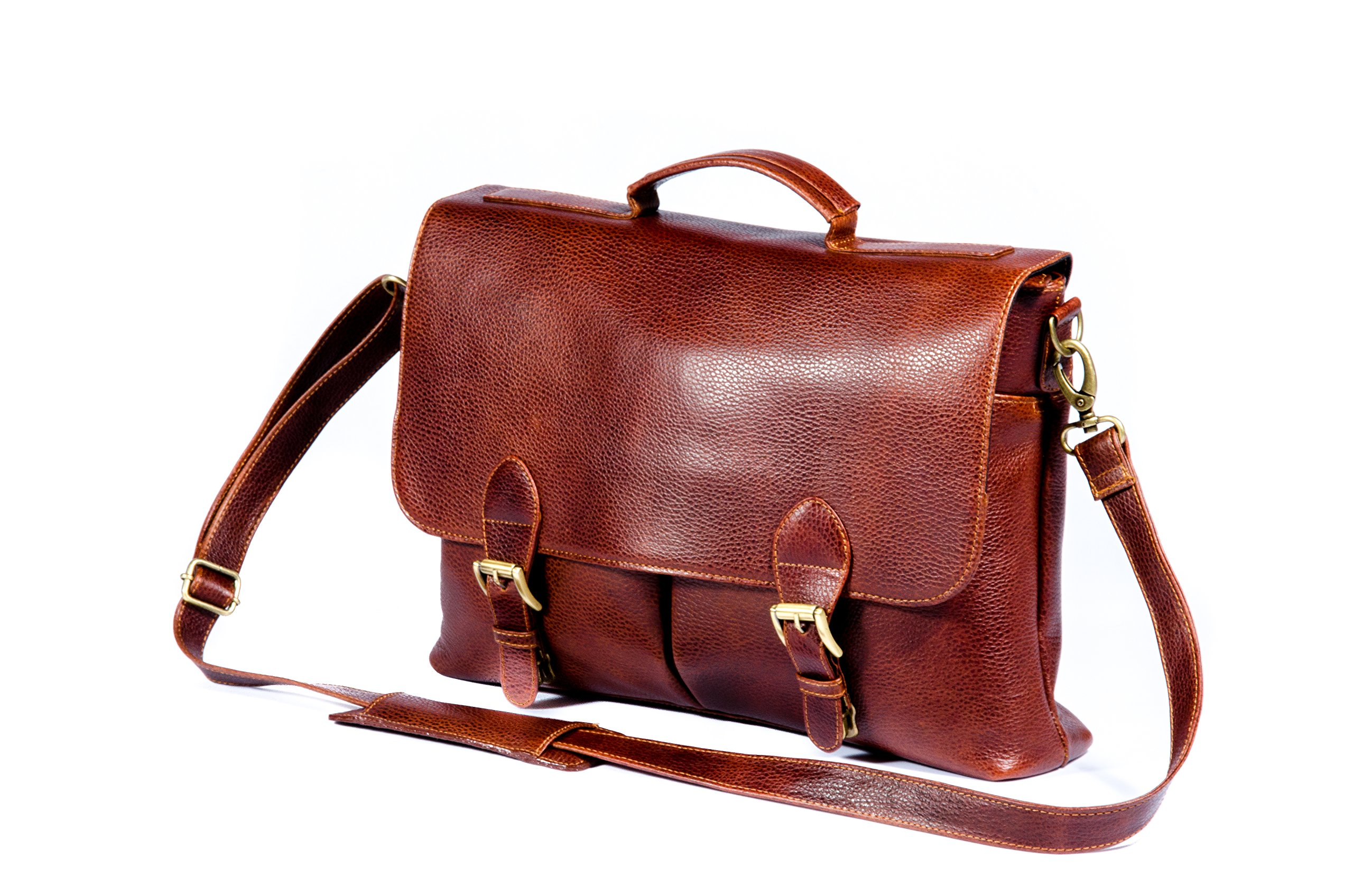 Cross Body Shoulder Leather Messenger Bag for men | Laptop Briefcase Work Office Bag | Durable & Stylish Satchel Bag by MA&B