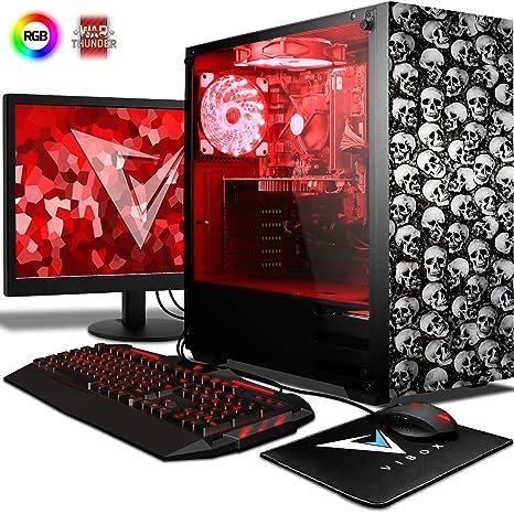 "VIBOX Apache 9XL Gaming PC Ordenador de sobremesa con Cupón de juego, 22"" HD"